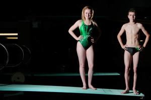 Canada Games Athletes-Diver Christian Zehmer and Kirsten MacDonald