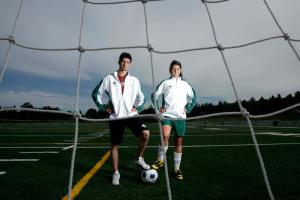 Canada Games Athletes-Soccer's Cassian Ferlatte and Marisa Duguay